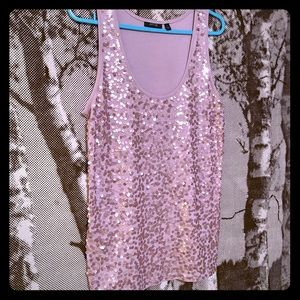 2/15$ Sequined pink tank